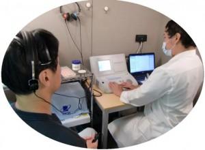 聴力検査風景